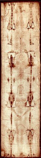 Shroud of Turin(トリノの聖骸布)、写真はパブリックドメイン