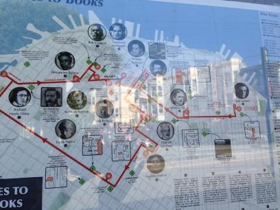 サンフランシスコの作家マップ