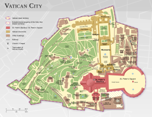 バチカン市国のマップ