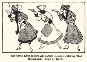 新聞に載ったKopp姉妹のイラスト